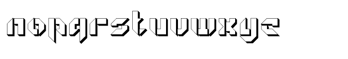 Geta Robo Open Extruded Font LOWERCASE