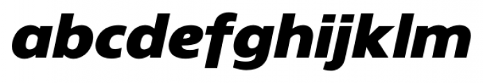 Gelder Sans Black Italic Font LOWERCASE