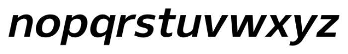 Gelder Sans Bold Italic Font LOWERCASE