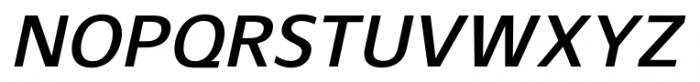 Gelder Sans DemiBold Italic Font UPPERCASE