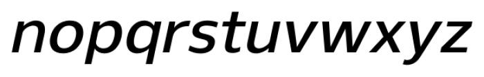 Gelder Sans DemiBold Italic Font LOWERCASE