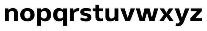 Gelder Sans ExtraBold Font LOWERCASE