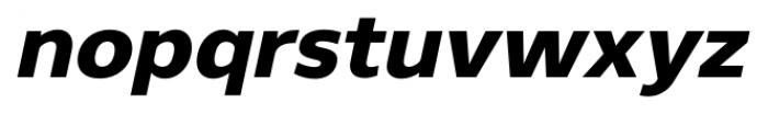 Gelder Sans Heavy Italic Font LOWERCASE