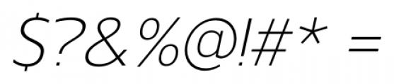 Gelder Sans Light Italic Font OTHER CHARS