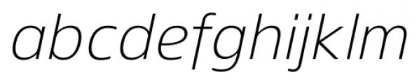 Gelder Sans Light Italic Font LOWERCASE