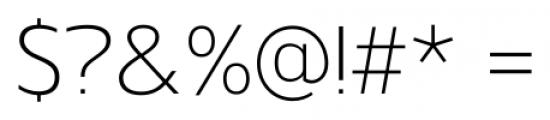 Gelder Sans Light Font OTHER CHARS