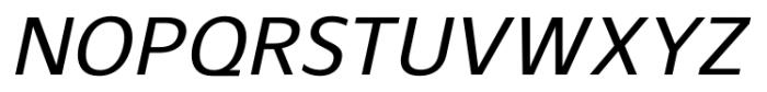 Gelder Sans Medium Italic Font UPPERCASE