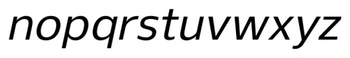 Gelder Sans Medium Italic Font LOWERCASE