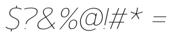 Gelder Sans Thin Italic Font OTHER CHARS