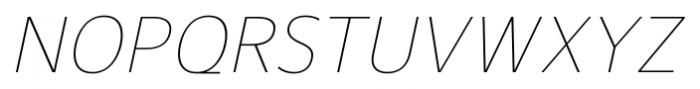 Gelder Sans Thin Italic Font UPPERCASE