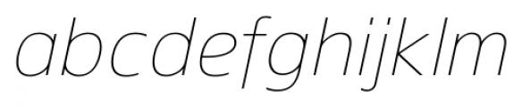 Gelder Sans Thin Italic Font LOWERCASE