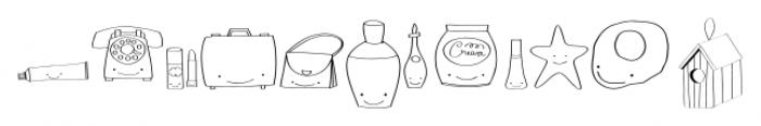 Gentil Doodles Doodles Font UPPERCASE