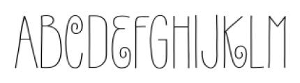 Gentil Regular Font UPPERCASE