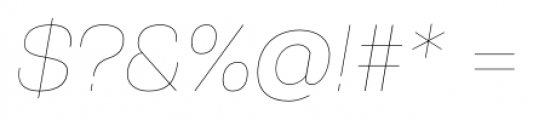 Gerlach Sans 101 Hairline Italic Font OTHER CHARS