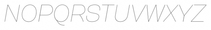 Gerlach Sans 101 Hairline Italic Font UPPERCASE