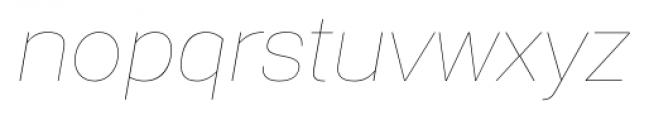 Gerlach Sans 101 Hairline Italic Font LOWERCASE