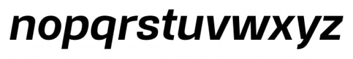 Gerlach Sans 601 Bold Italic Font LOWERCASE