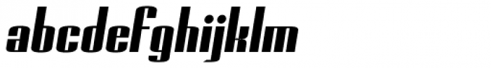 Geiger Bold Italic Font LOWERCASE
