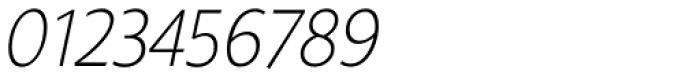 Gelato Sans Thin Italic Font OTHER CHARS