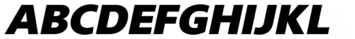 Gelder Sans Black Italic Font UPPERCASE