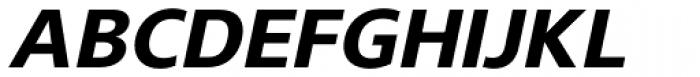 Gelder Sans ExtraBold Italic Font UPPERCASE