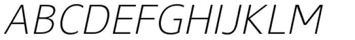 Gelder Sans Light Italic Font UPPERCASE