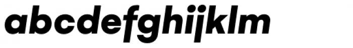 Gelion Black Italic Font LOWERCASE