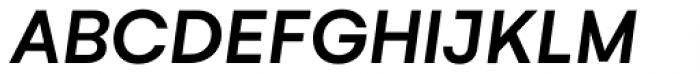 Gelion Medium Italic Font UPPERCASE