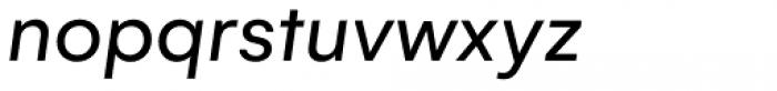 Gelion Regular Italic Font LOWERCASE