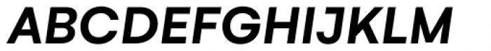 Gelion Semi Bold Italic Font UPPERCASE