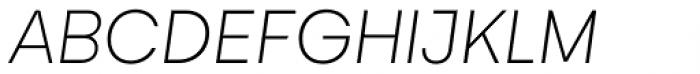 Gelion Thin Italic Font UPPERCASE