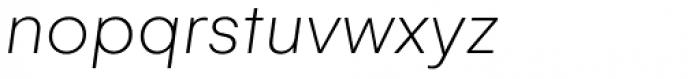 Gelion Thin Italic Font LOWERCASE
