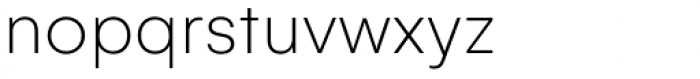 Gelion Thin Font LOWERCASE