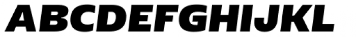 Geller Sans Rg Heavy Italic Font UPPERCASE