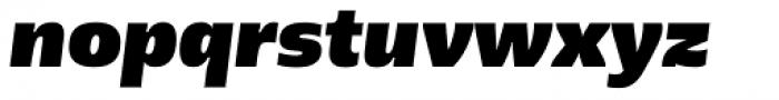 Geller Sans Rg Heavy Italic Font LOWERCASE