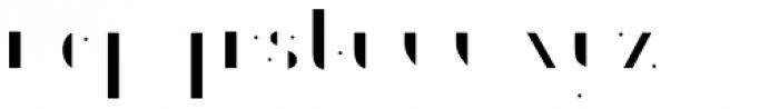 Gemline Filled Font LOWERCASE