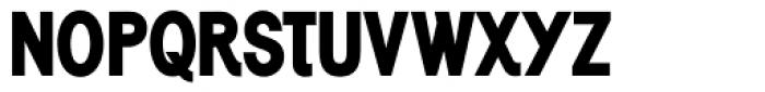 Generation Gothic Condensed ExtraBold Font UPPERCASE