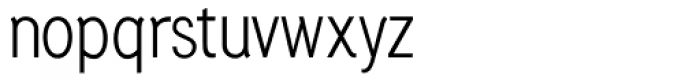 Generation Gothic Condensed Light Font LOWERCASE