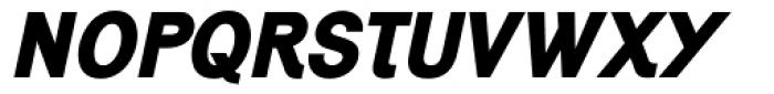 Generation Gothic ExtraBold Italic Font UPPERCASE