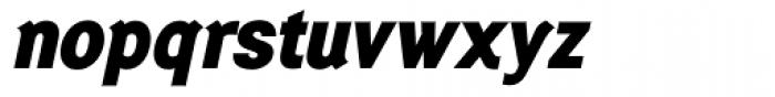 Generation Gothic ExtraBold Italic Font LOWERCASE