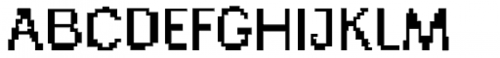 Generation Pixel A Font UPPERCASE