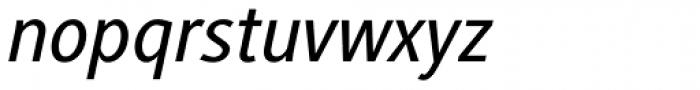 Generis Sans Com Medium Italic Font LOWERCASE