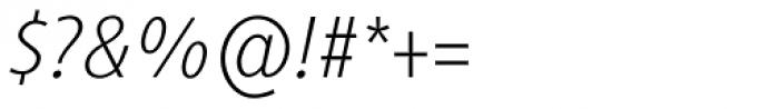 Generis Sans Com Thin Italic Font OTHER CHARS