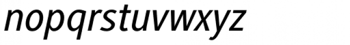 Generis Sans Pro Medium Italic Font LOWERCASE