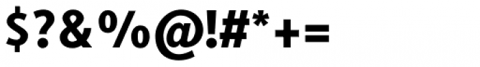 Generis Sans Std Heavy Font OTHER CHARS