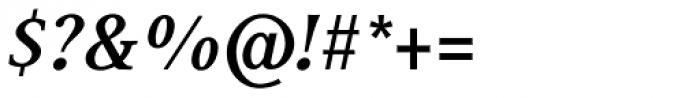 Generis Serif Com Bold Italic Font OTHER CHARS