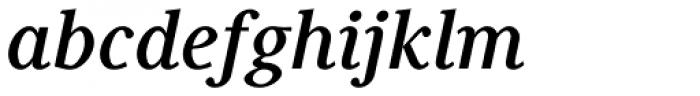 Generis Serif Com Bold Italic Font LOWERCASE