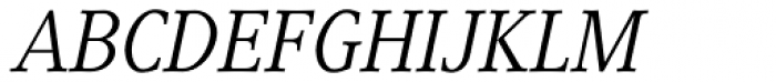Generis Serif Com Italic Font UPPERCASE