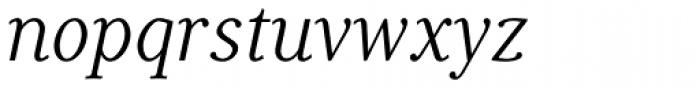Generis Serif Com Italic Font LOWERCASE
