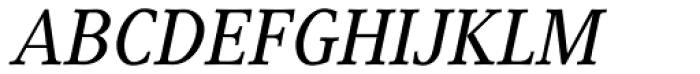 Generis Serif Com Medium Italic Font UPPERCASE